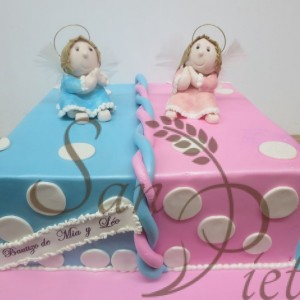 Baby Shower Twin Cake