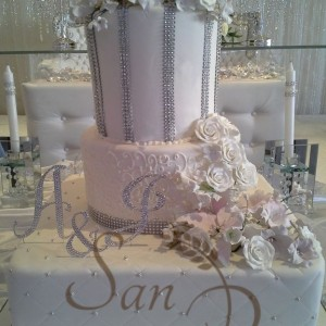 Wedding Diamond Tall Cake