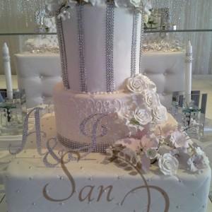 Wedding Diamond Tall Cake