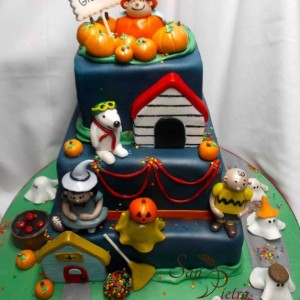 gâteau d'halloween Charlie Brown / Charlie brown Cake halloween