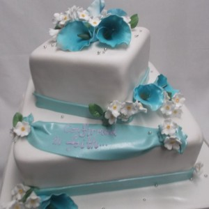gâteau Orchidées bleues Confirmation / Blue Orchids Confirmation cake