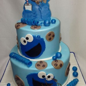 gâteau Cookie Monster / Cookie Monster Cake