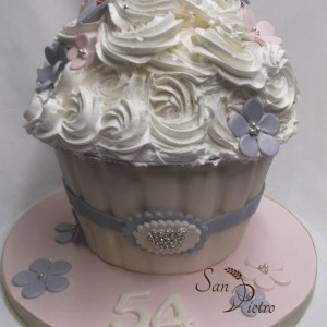 Cupcake gâteau / Cupcake cake with Rosettes