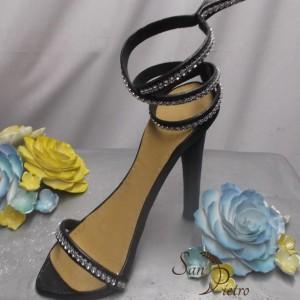 gâteau de chaussures noir / Bridal Shower Shoe cake 2