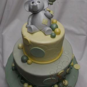éléphant gâteau 2 étages / Elephant two tier cake