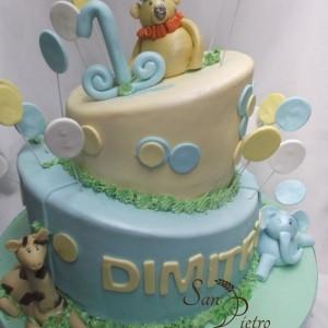 Jungle 1er gâteau d'anniversaire / Jungle 1st birthday cake
