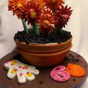 Pot de fleur gâteau / Flower pot cake