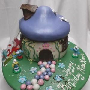 gâteau schtroumpfs / Smurfs cake