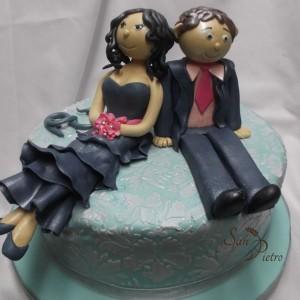 gâteau de fiançailles pour Amanda et Mario / Character cake Amanda and Mario