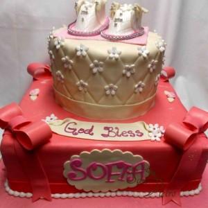gâteau baptême pour Sofia / Baptism cake for Sofia