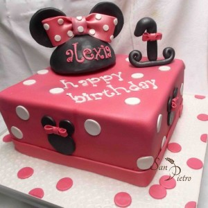 gâteau Minnie Mouse pour Alexia / Minnie Mouse cake for Alexia