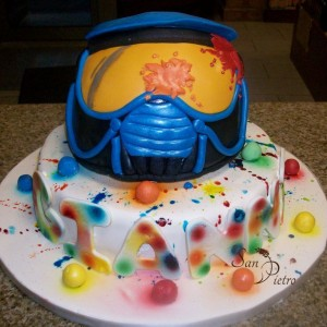 gâteau paintball / Paint ball cake
