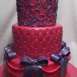 gâteau princess 3 étages / Princess three tier cake
