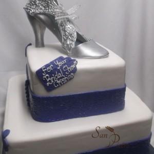 gâteau dentelle argent / Silver Lace Bridal Shower cake