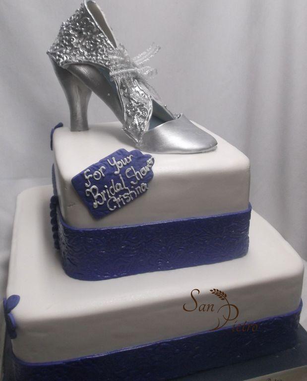 Cake Decorations Silver Shoes : Boulangerie Patisserie SanPietro Bakery Bridal Shower Cakes