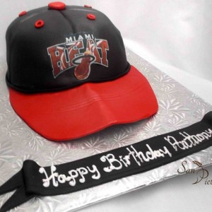 gâteau Miami Heat Cap cake