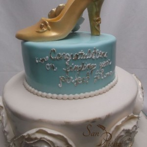 La chaussure d'or gâteau / Vintage Shoe Bridal Shower cake