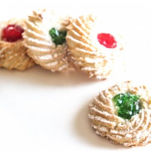 cerise rouge ou vert biscuits amande / Amaretti Green and Red Cherry 35.99$kg