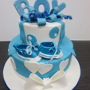 Converse baby shower theme cake