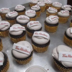 Tim Hortons theme cupcakes