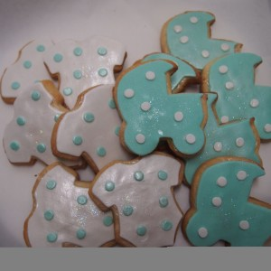 biscuits au beurre baby shower / Baby Shower shaped cookies