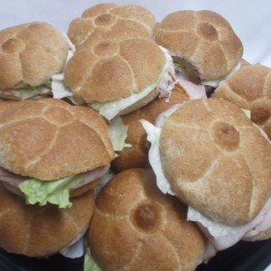 Brown Round Soft panini Sandwhich platter
