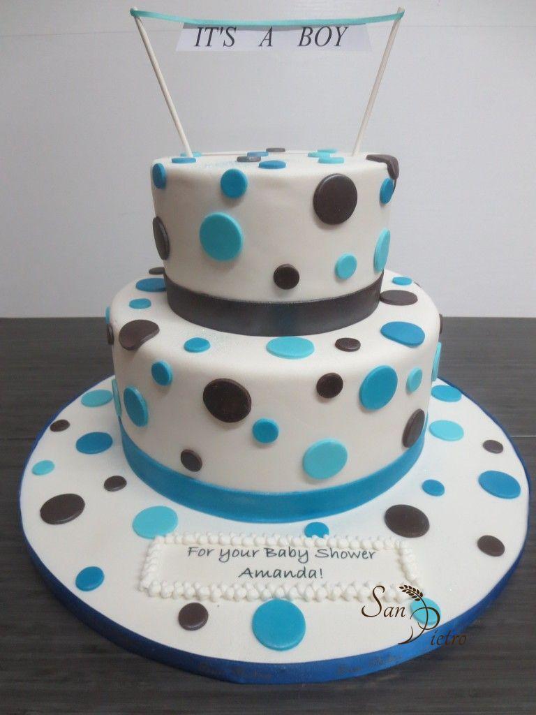 ... Polka Dot Baby Shower Theme Cake ...