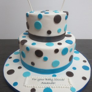 polka dot baby shower theme cake