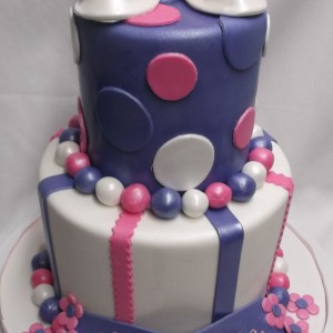 Violet et Rose deux étages /Two Tier purple and pink