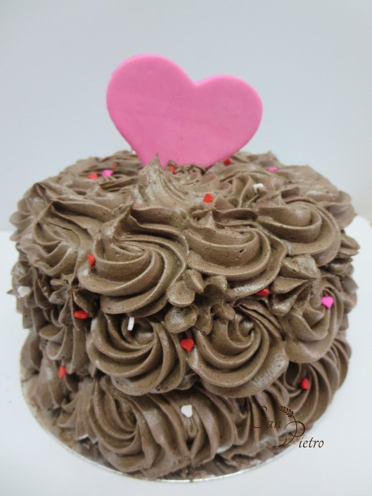 Chocolate Rossettes Heart