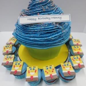 Cupcake spongebob cake